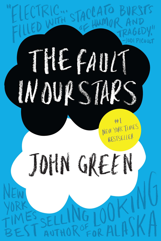 "This book cover image released by Dutton shows ""The Fault In Our Stars,"" by John Green. The book was made into a film in 2014 starring Shailene Woodley and Ansel Elgort. (AP Photo/Dutton) ORG XMIT: NYET193"