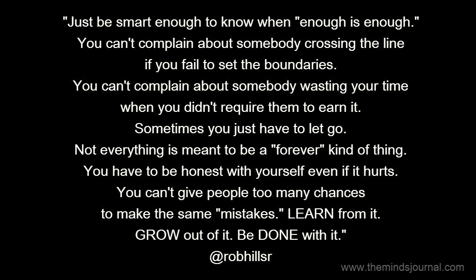Be Smart Enough to Know When Enough is Enough