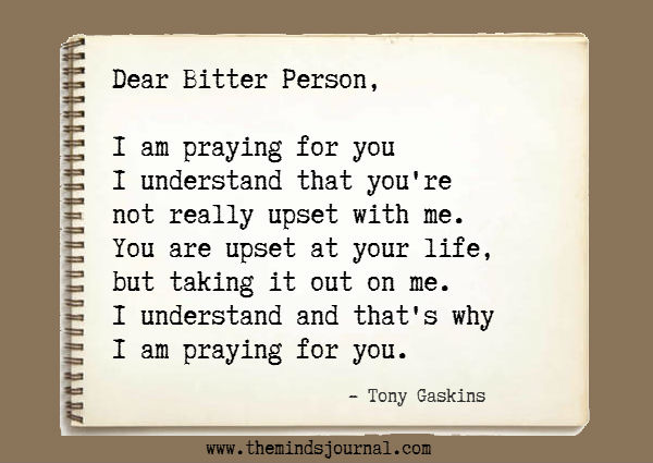 Dear Bitter Person