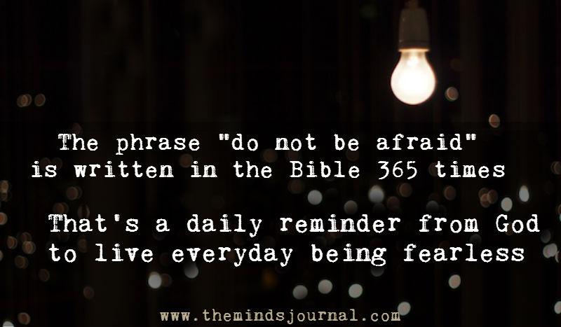 Do not be afraid – Bible