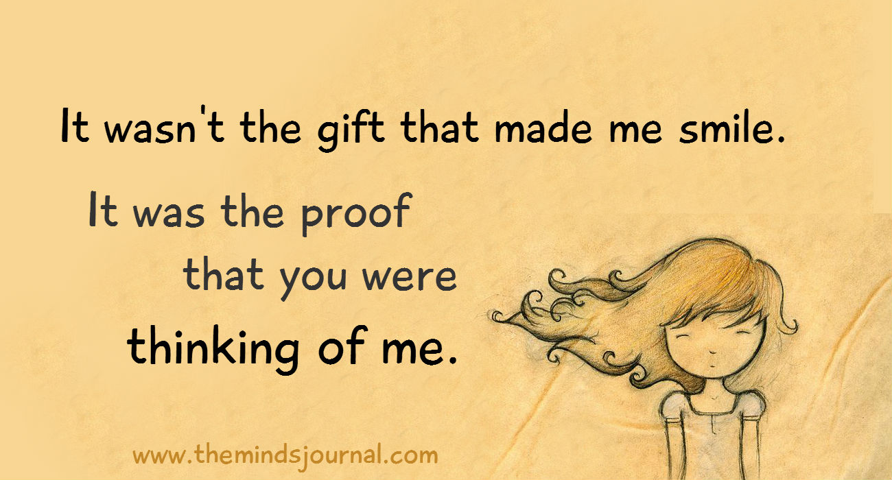 It Wasn't The Gift That Made Me Smile