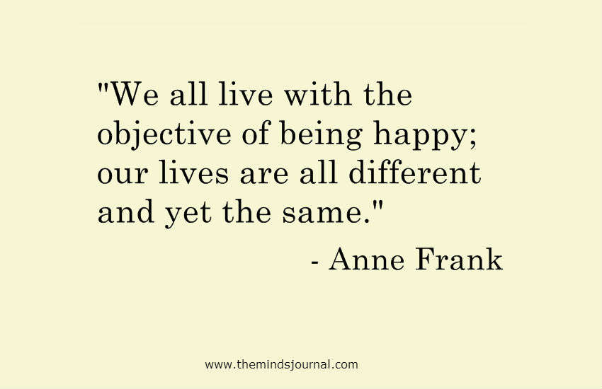 Our Lives are all different and yet the same