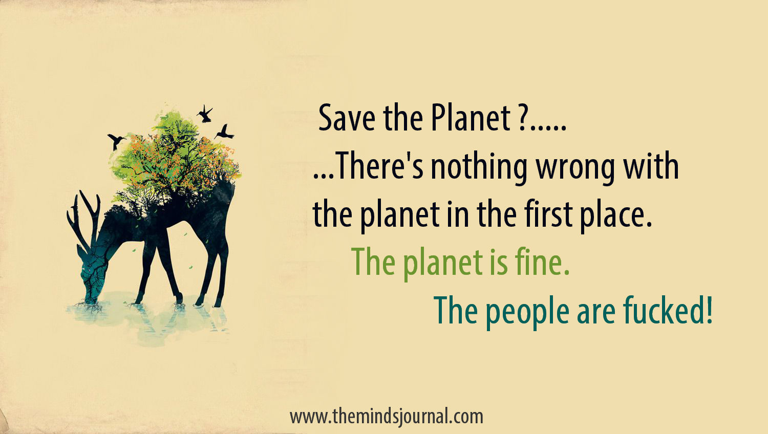 Save the Planet ? …. or the People?