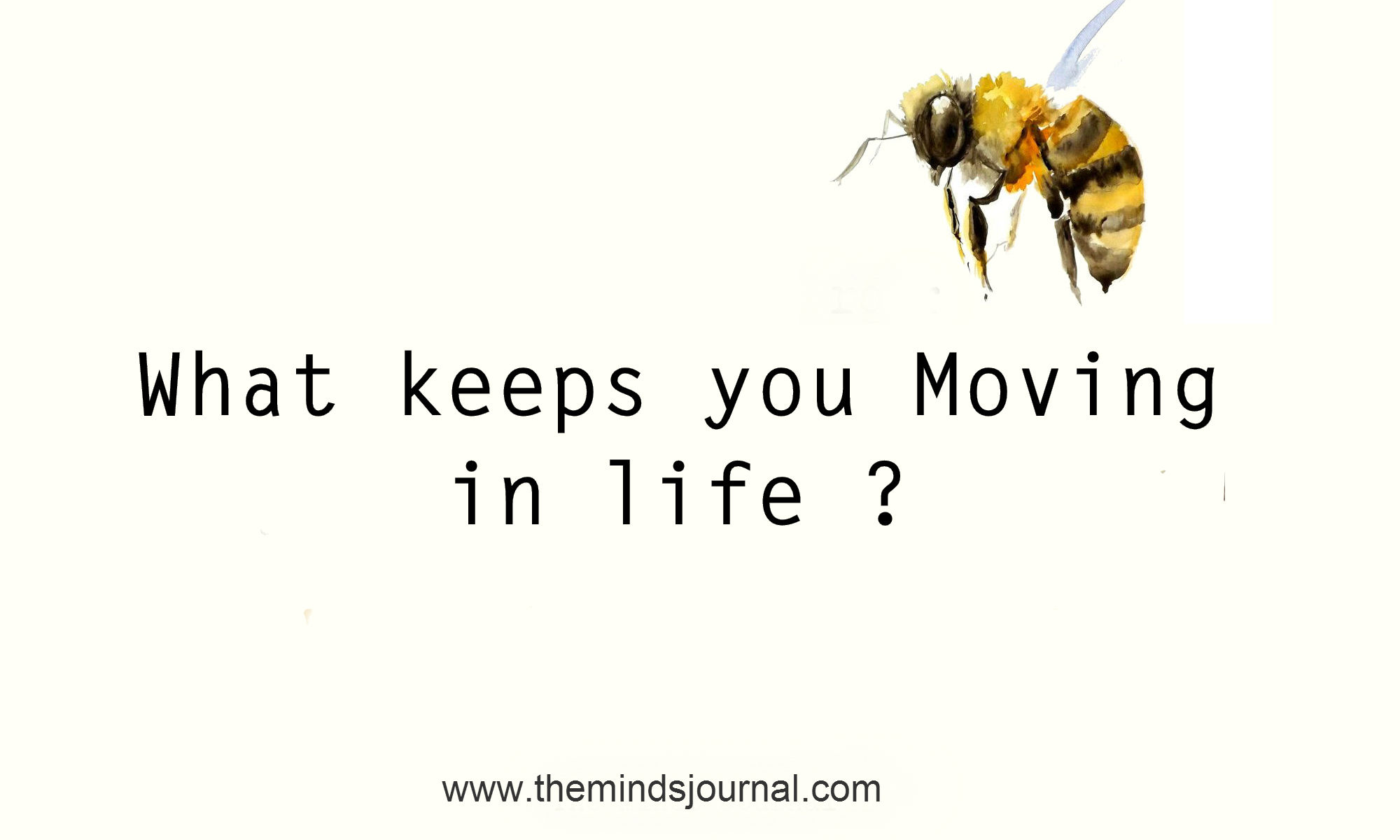 What keeps you moving in life ?