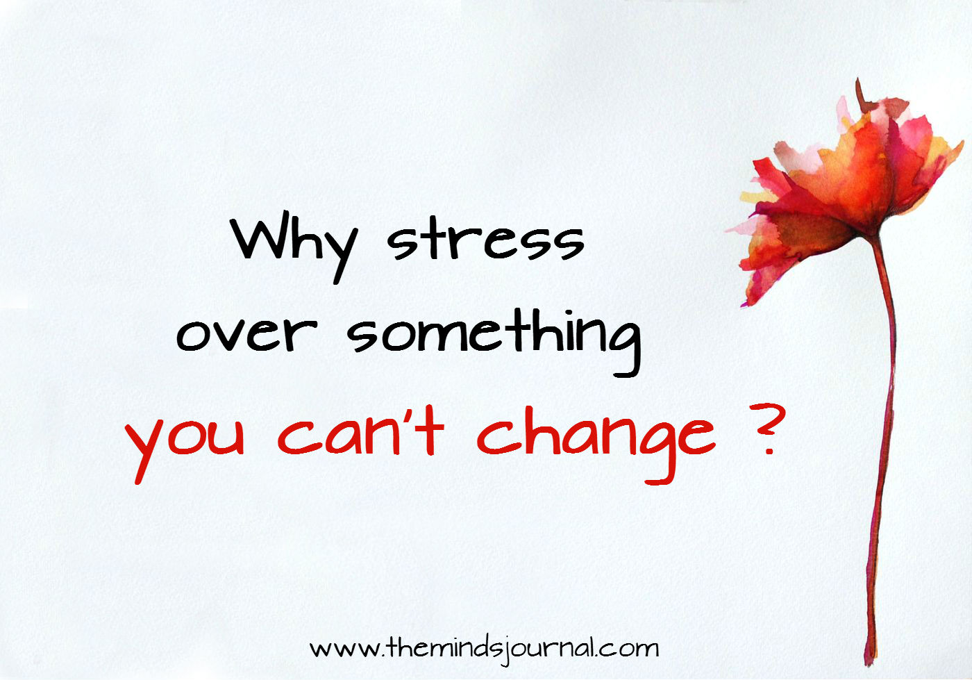 Why stress over something you can't change?