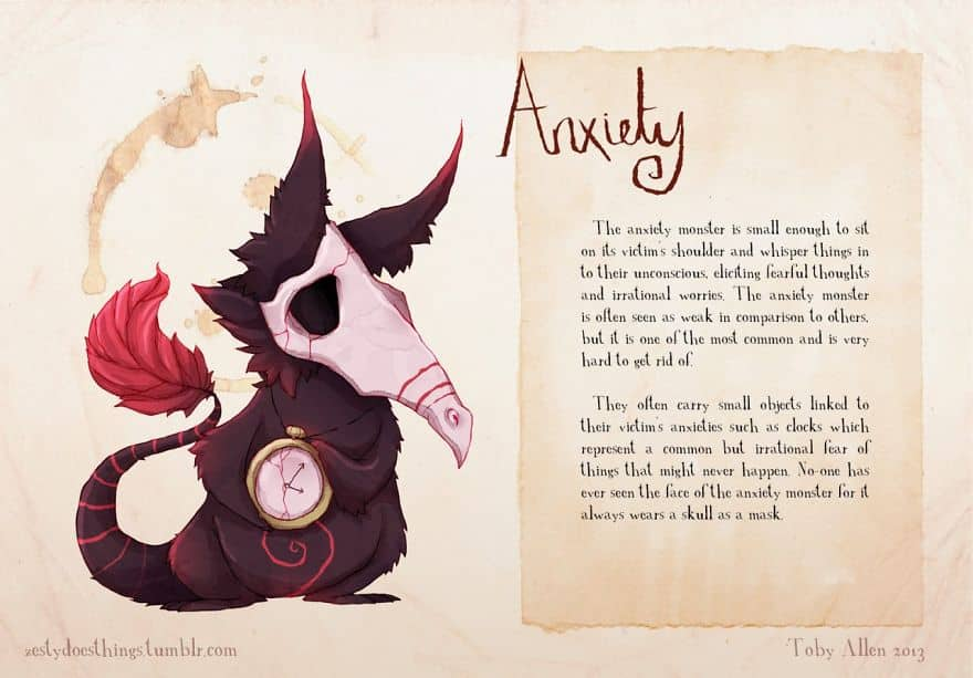 Anxiety Monsters inside your Head