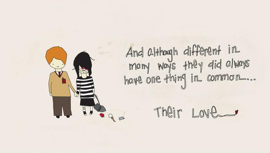 Opposites attract love