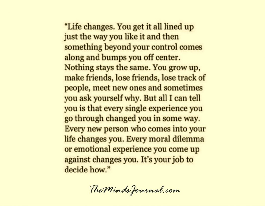 Major life change