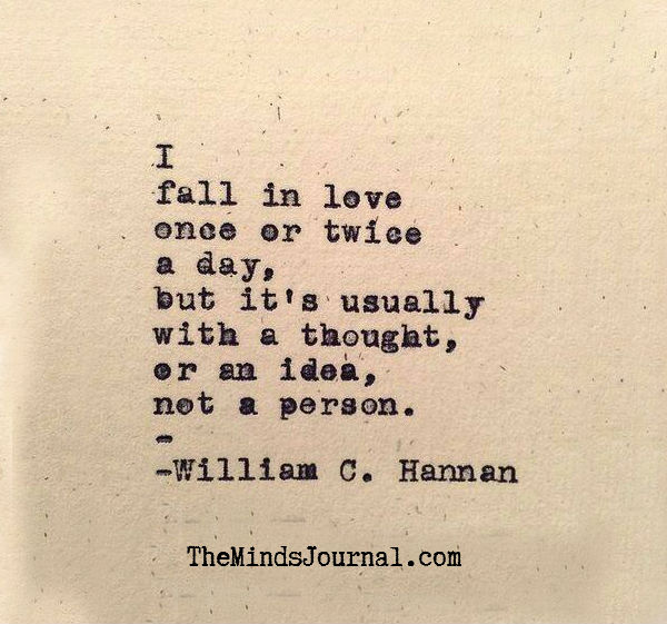 Fall in love with a thought