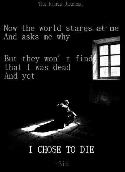 I chose to Die