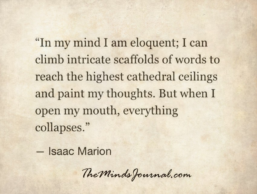 In my Mind I am eloquent