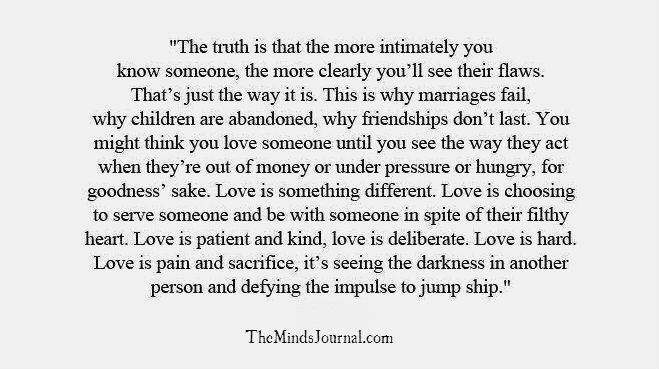 Love is.. choosing not to Jump Ship