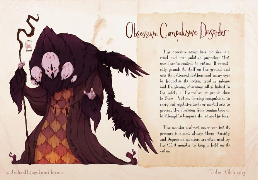 obssesive compulsive disorder Monsters inside your Head