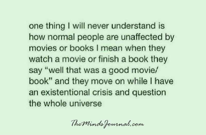 One thing I will never understand