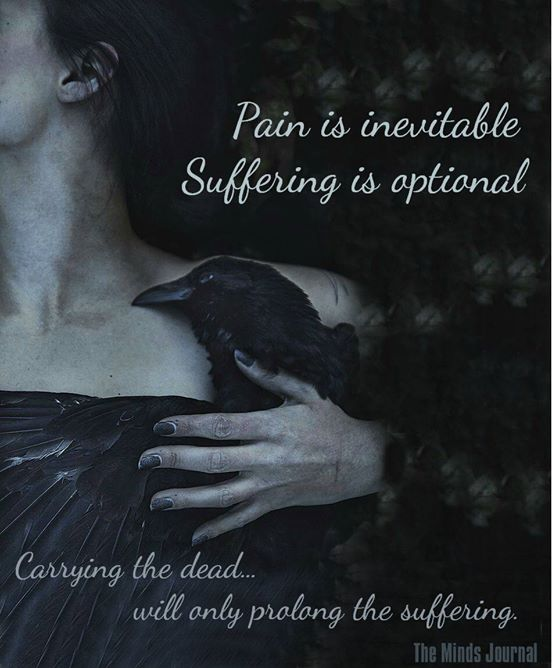 Pain is inevitable, suffering is optional
