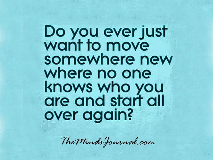 Start all over again….