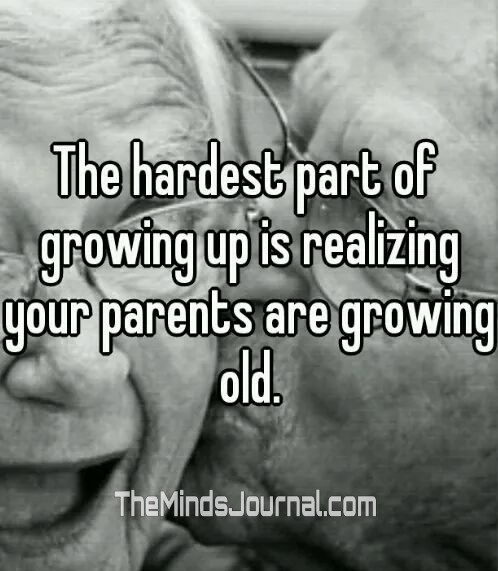 The hardest part of growing up