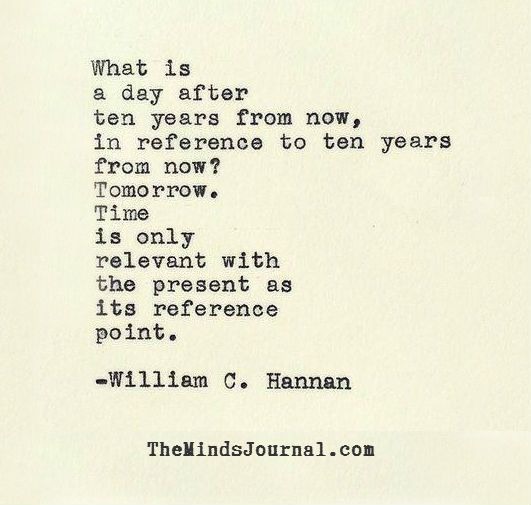 Time is only relevant with the Present as a reference point