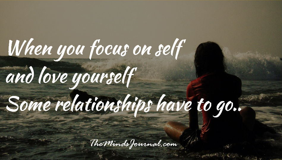 When you Focus on yourself