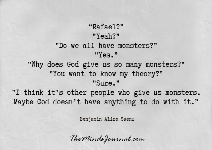 Why does God give us so many Monsters ?