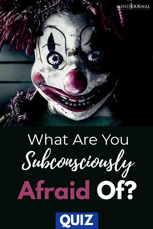 Subconsciously Afraid Of pin