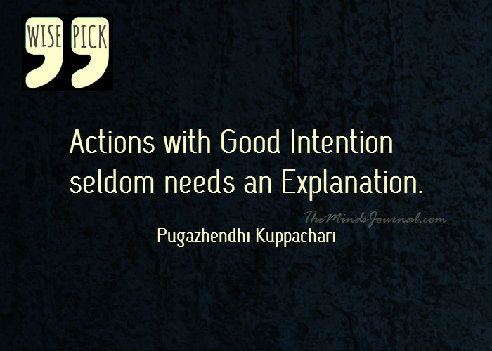 Actions with Good Intention