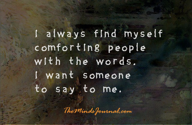 Comforting People with the words