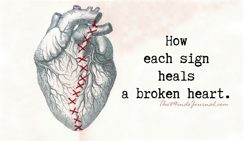 How one Deals with a Broken Heart according to his/her Zodiac Sign