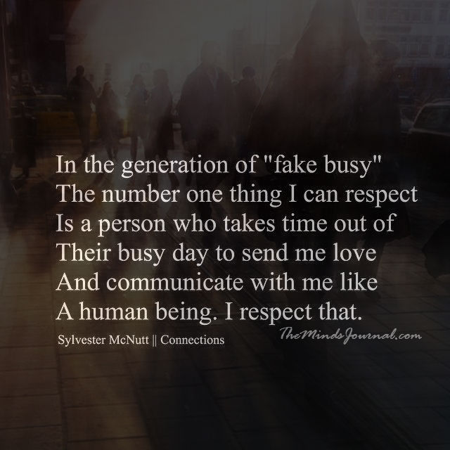 In the generation of Fake Busy