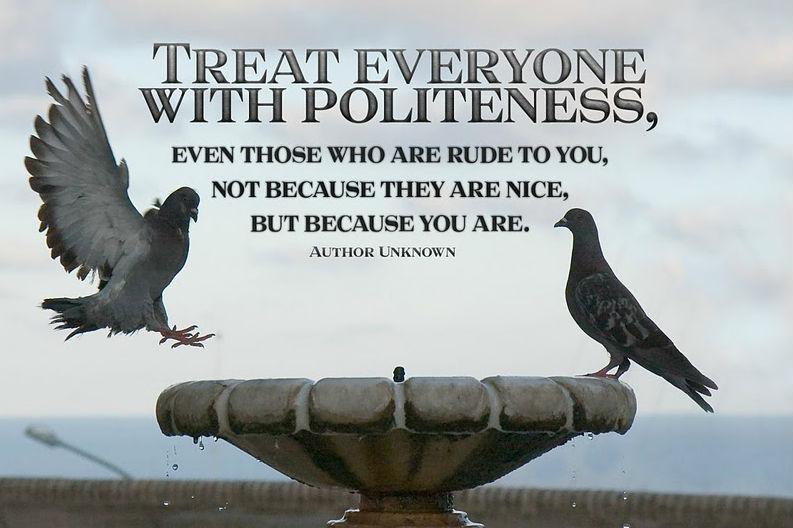 Politeness – key to awakening – MY MIND TALK