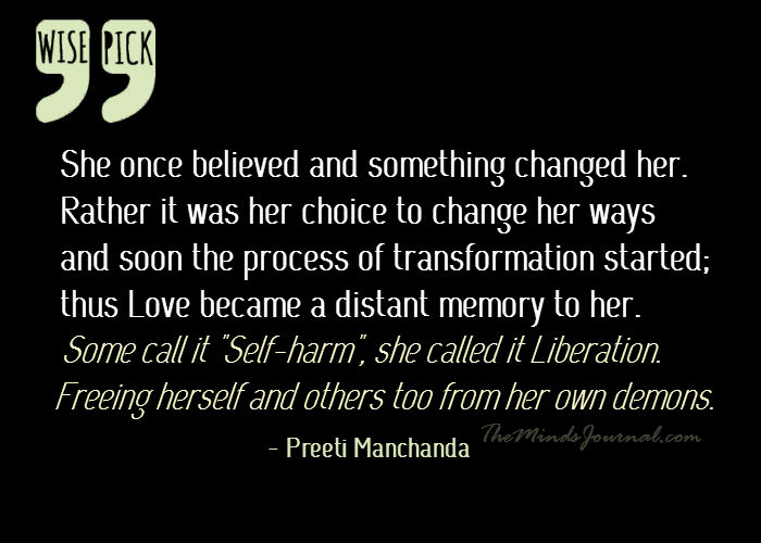 """Some call it """"Self-harm"""", she called it Liberation."""