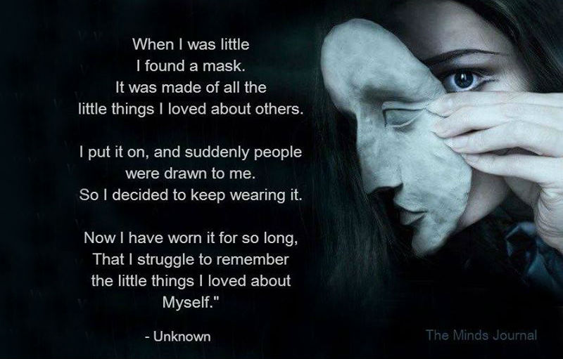 When I was little I found a Mask