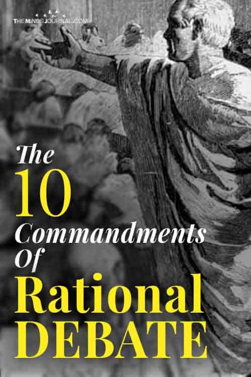 Commandments Of Rational Debate Pin