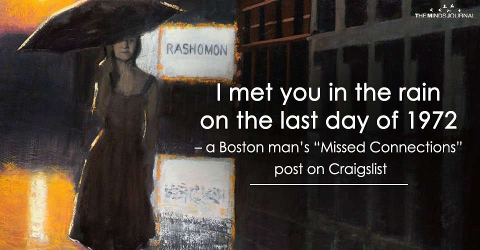 "I met you in the rain on the last day of 1972 – a Boston man's ""Missed Connections"" post on Craigslist"