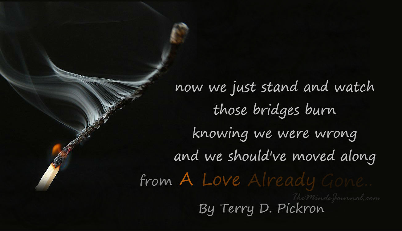 """A LOVE ALREADY GONE"" By Terry D. Pickron  – MIND TALK"
