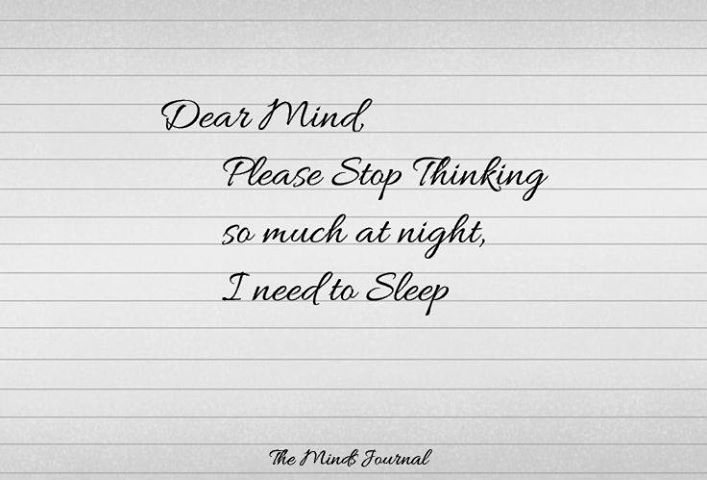 Dear Mind, please Stop thinking