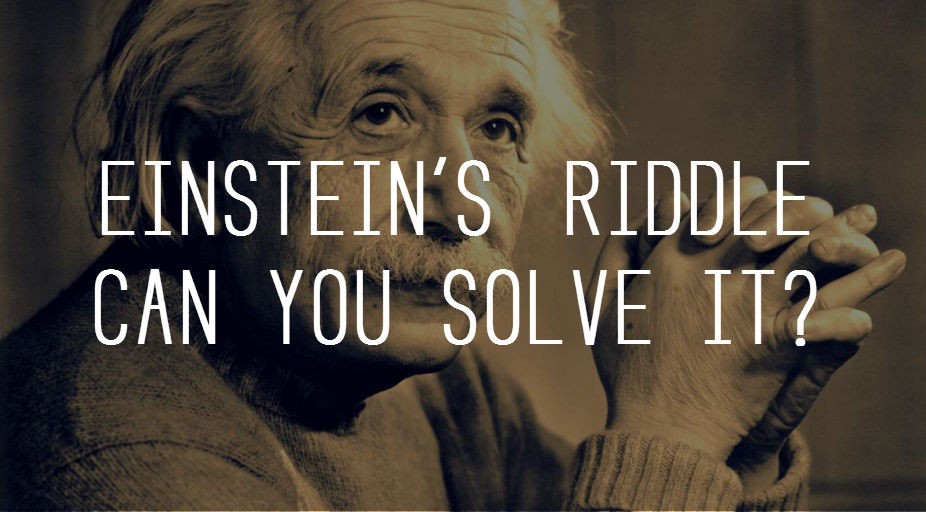 EINSTEIN'S RIDDLE – CAN YOU SOLVE IT? – MIND GAME
