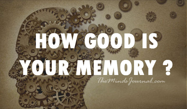 How Good Is Your Memory? – MIND GAME