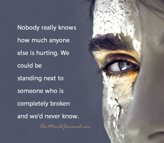 How much someone else is hurting