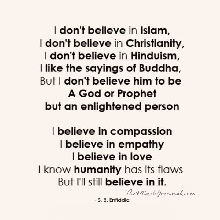 Humanity is my Religion