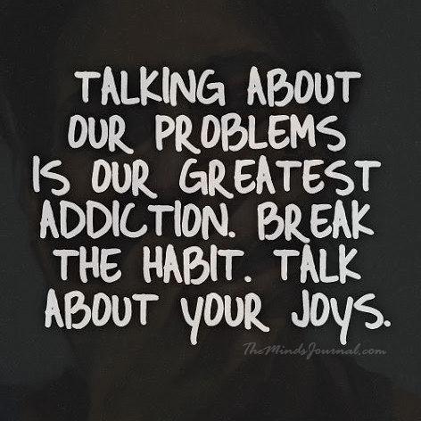 Let's talk about our joys