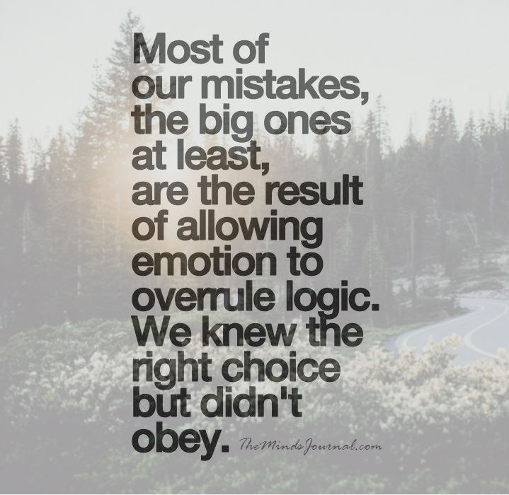 Most of our Mistakes