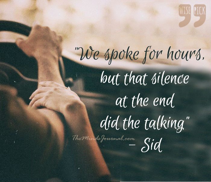 That Silence at the end – WISE PICK