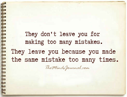 The same mistakes too many times