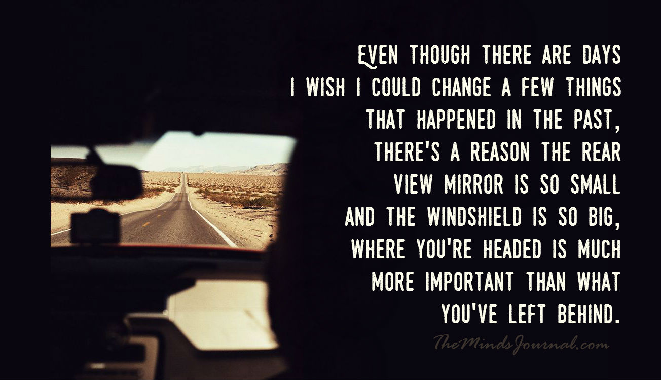 There's a reason the rear view mirror is so small