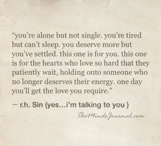 You're alone, but not single