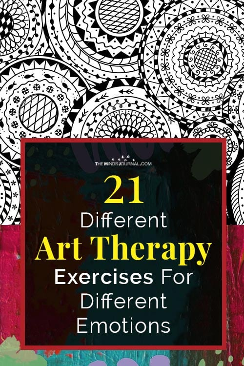 Art Therapy Exercises For Different Emotions Pin