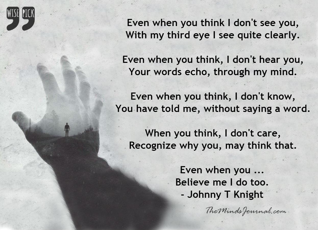Even when…
