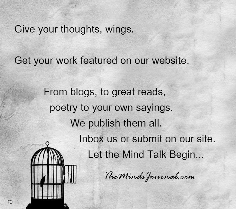 Give your thoughts wings..