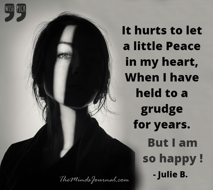 It hurts to let a little peace